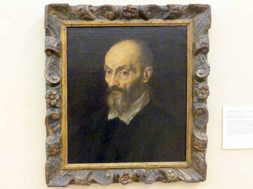 Jacopo Bassano (da Ponte): Portrait eines älteren Mannes, 1580 - 1590
