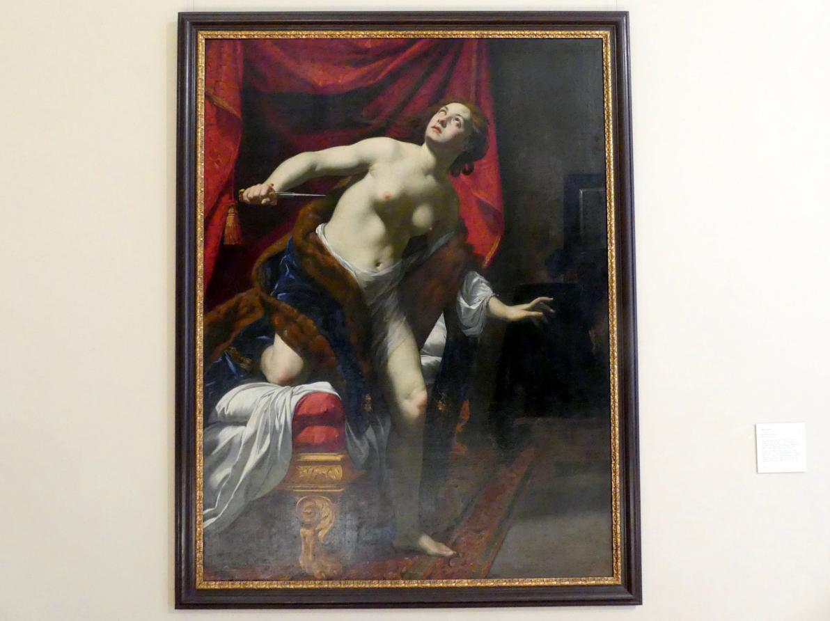 Simon Vouet: Selbstmord der Lucretia, Um 1624 - 1625