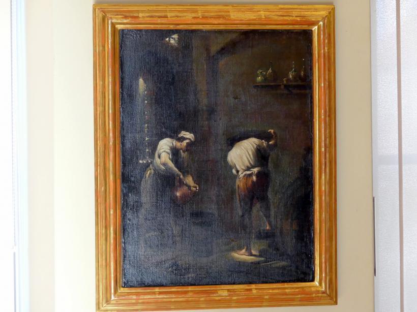 Giuseppe Maria Crespi (Spagnuolo): Winzer im Weinkeller, Nach 1710