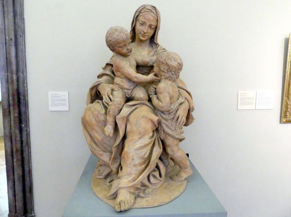 Giuseppe Maria Mazza: Maria mit dem Kind und dem Johannesknaben, Undatiert