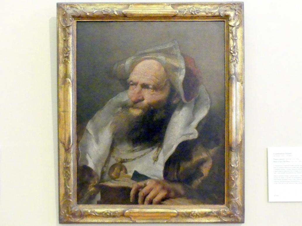 Giovanni Battista Tiepolo: Büste eines alten Mannes, Um 1751 - 1755