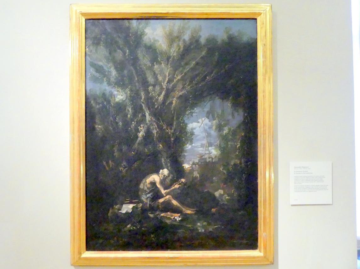 Alessandro Magnasco: Hl. Hieronymus in der Landschaft, Undatiert