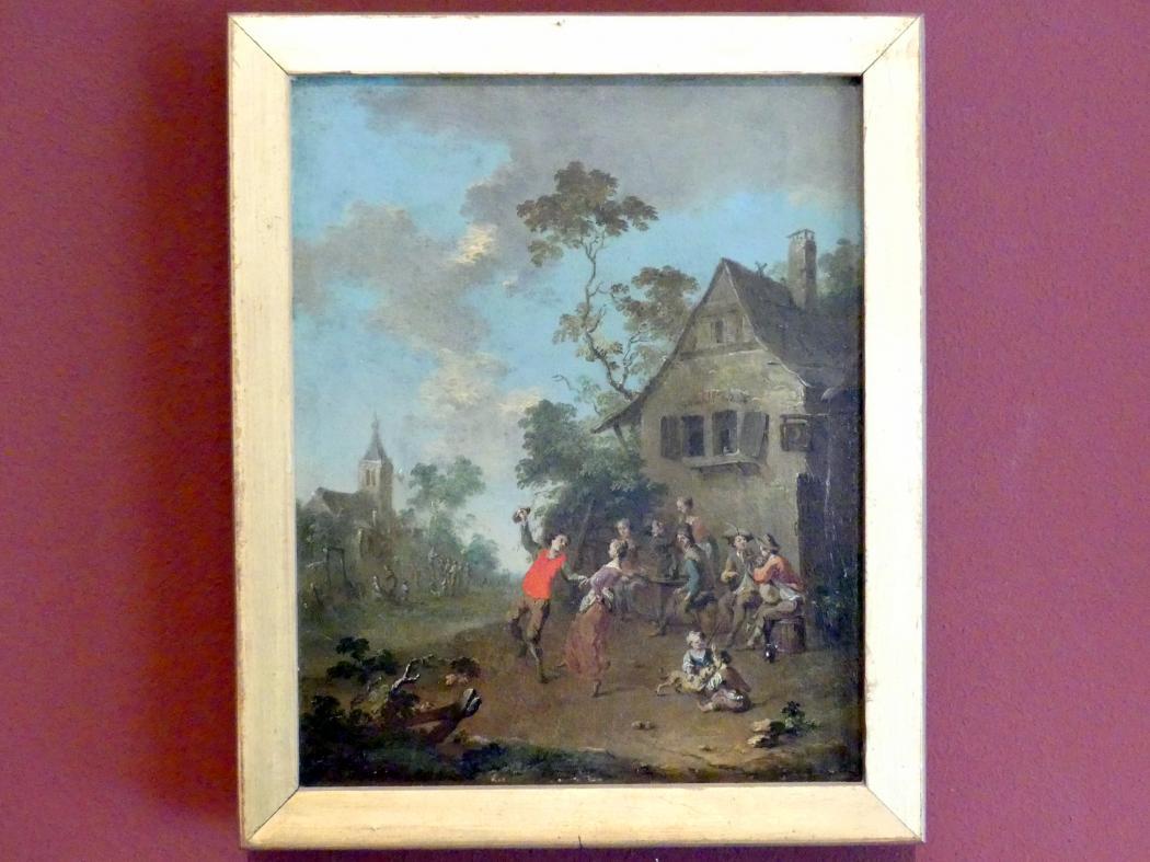 Norbert Grund: Tanz außerhalb eines Dorfes, Undatiert