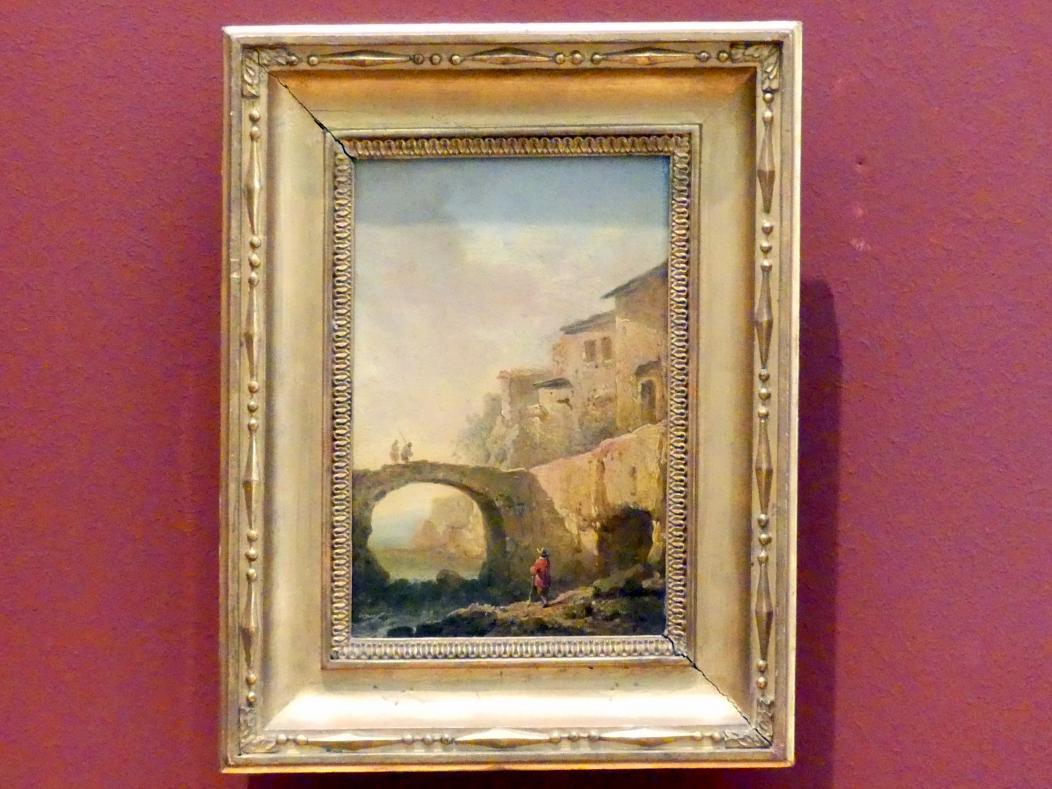 Johann Christian Brand: Altes italienisches Haus an einer Brücke, Undatiert