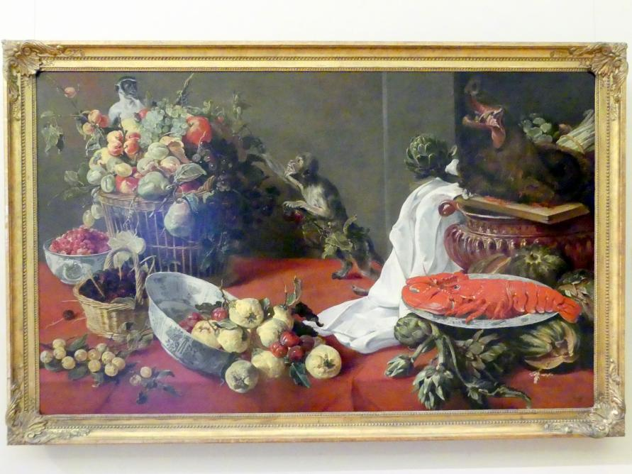 Frans Snyders: Stillleben mit Affen, um 1630 - 1640