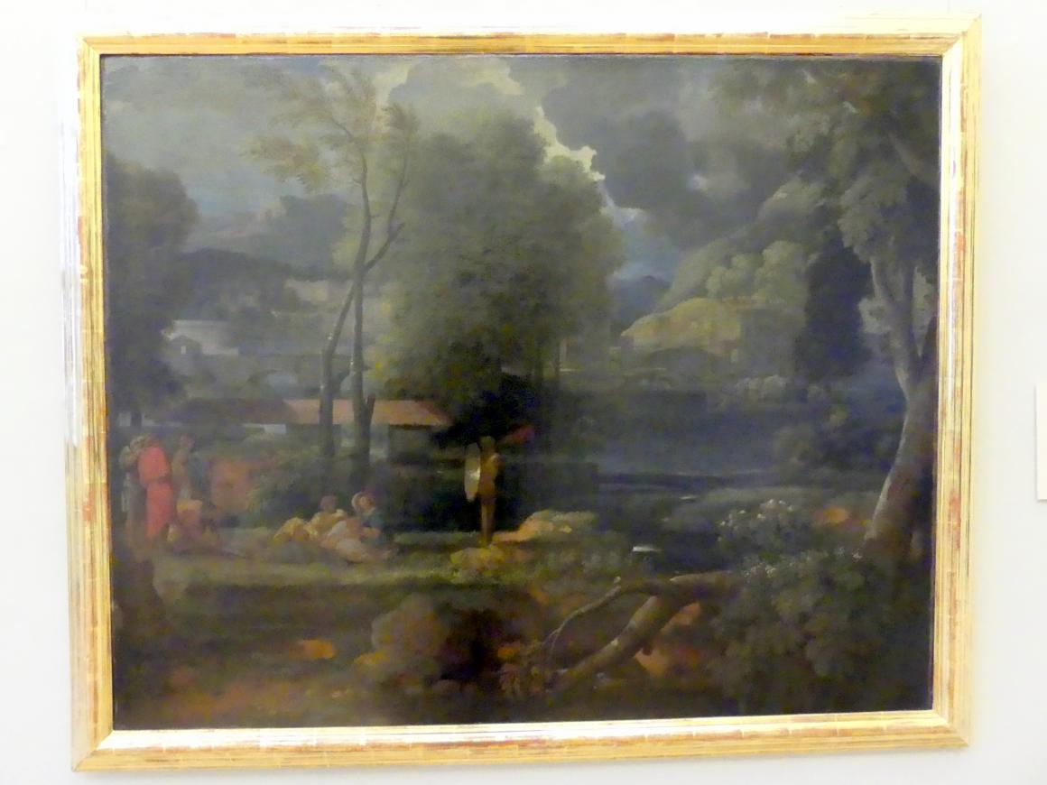 Sébastien Bourdon: Archaische Landschaft mit Bogenschützen, Undatiert