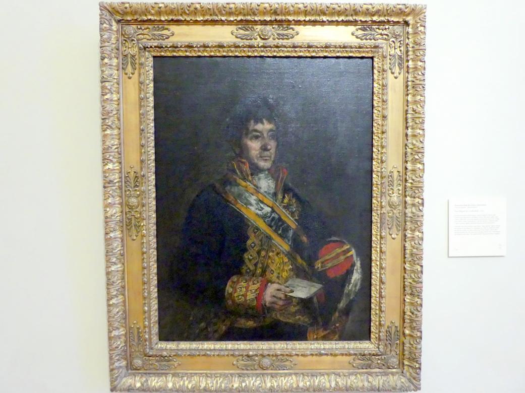 Francisco de Goya (Francisco José de Goya y Lucientes): Portrait von Don Miguel de Lardizábal, 1815