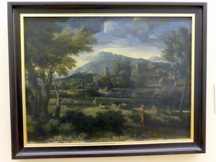Gaspard Poussin (Gaspard Dughet): Landschaft mit Hirten, Undatiert