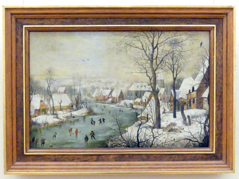 Winterlandschaft mit Vogelhaus, 1. Viertel 17. Jhd.
