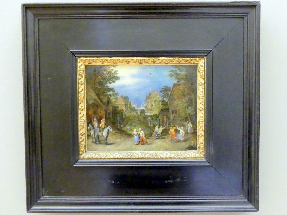 Pieter Brueghel der Jüngere (Höllenbrueghel): Dorfstraße mit Bauern, Undatiert