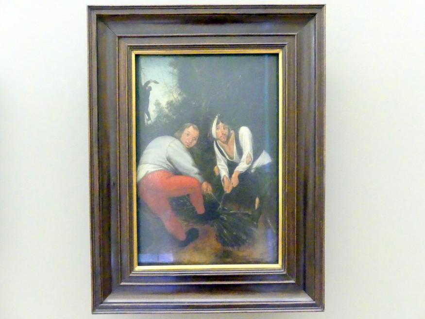 Pieter Brueghel der Jüngere (Höllenbrueghel): Zwei Bauern Zweige bindend, Undatiert