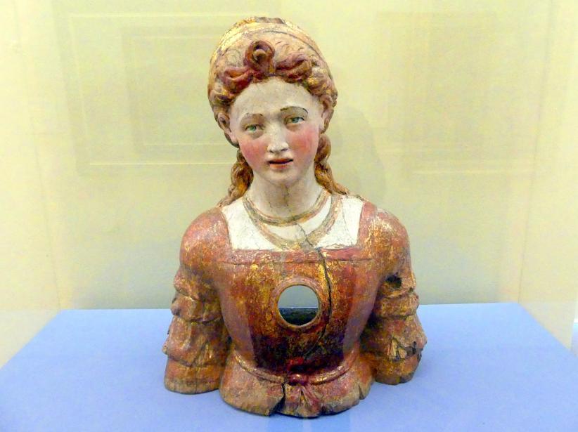 Reliquienbüste einer weibllichen Heiligen, Ende 16. Jhd.