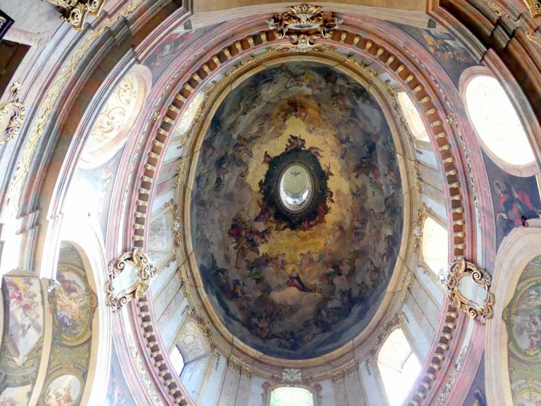 Johann Michael Rottmayr: Kuppelfresko und Gewölbefresken der beiden seitlichen Querarme, 1713 - 1714