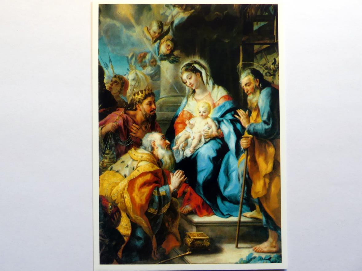 Johann Michael Rottmayr: Anbetung der hl. drei Könige, 1723