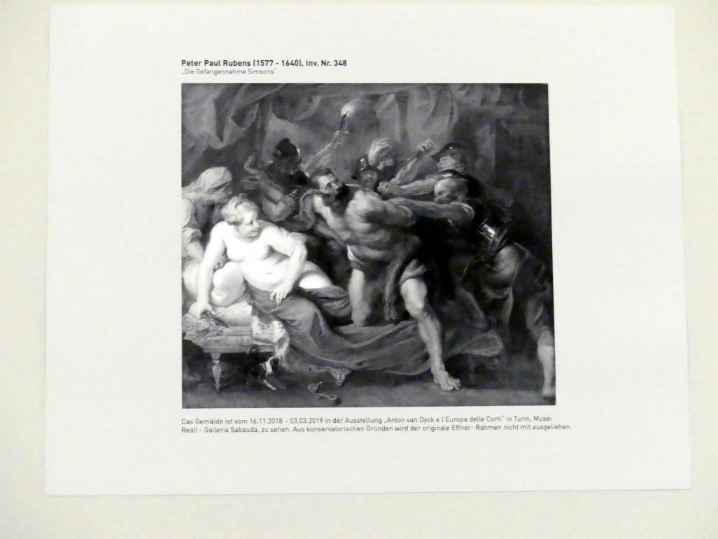 Peter Paul Rubens: Gefangennahme des Simson, Undatiert