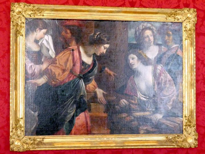 Giovanni Francesco Barbieri (Il Guercino) (Umkreis): Dido auf dem Scheiterhaufen, Undatiert