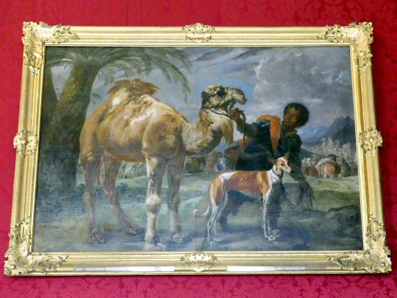 Giovanni Benedetto Castiglione (il Grechetto): Mohrenknabe mit Dromedar, Undatiert