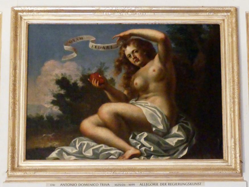 Antonio Domenico Triva: Allegorie der Regierungskunst, Undatiert