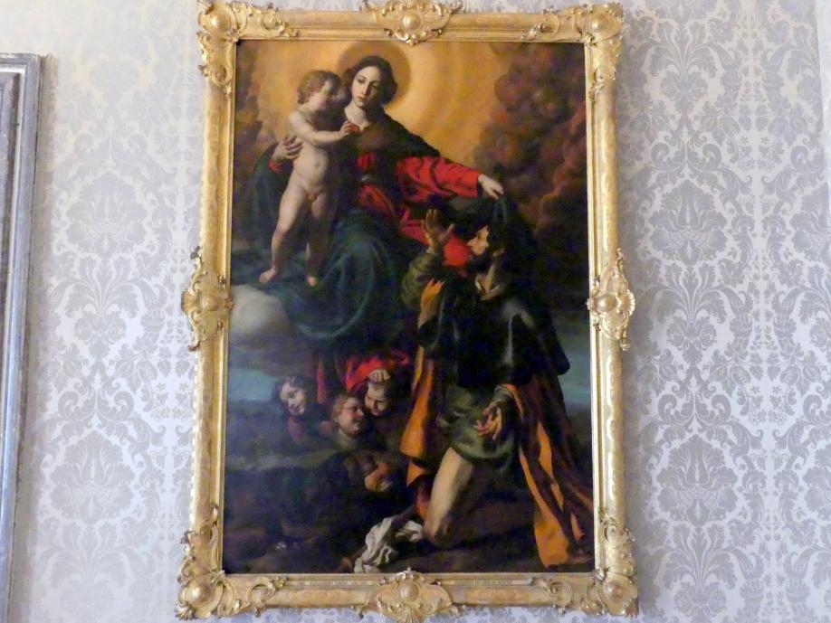 Alessandro Turchi (L'Orbetto): Madonna mit dem hl. Rochus, Undatiert