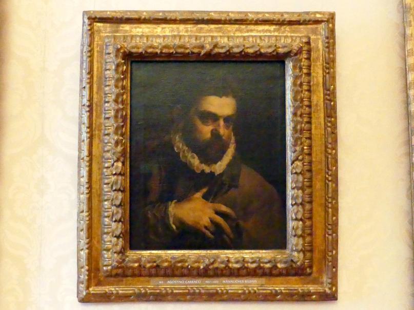 Agostino Carracci: Männliches Bildnis, Undatiert