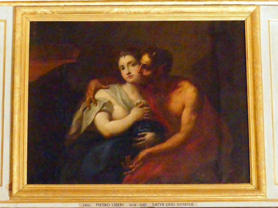 Pietro Liberi: Satyr und Nymphe, Undatiert