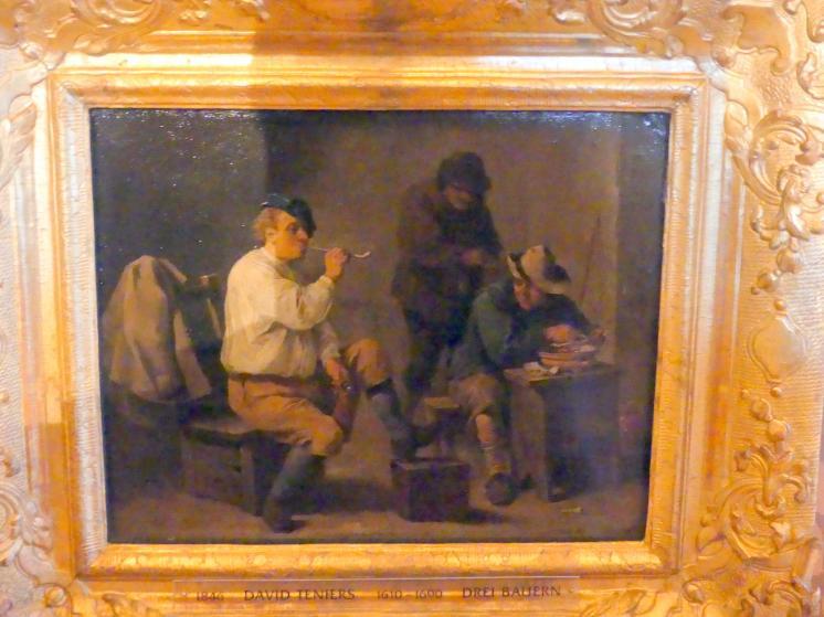 David Teniers der Jüngere: Drei Bauern, Undatiert