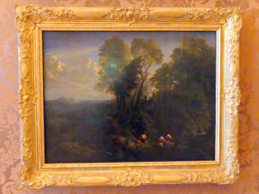 Cornelis Huysmans: Landschaft mit rastenden Hirten, Undatiert