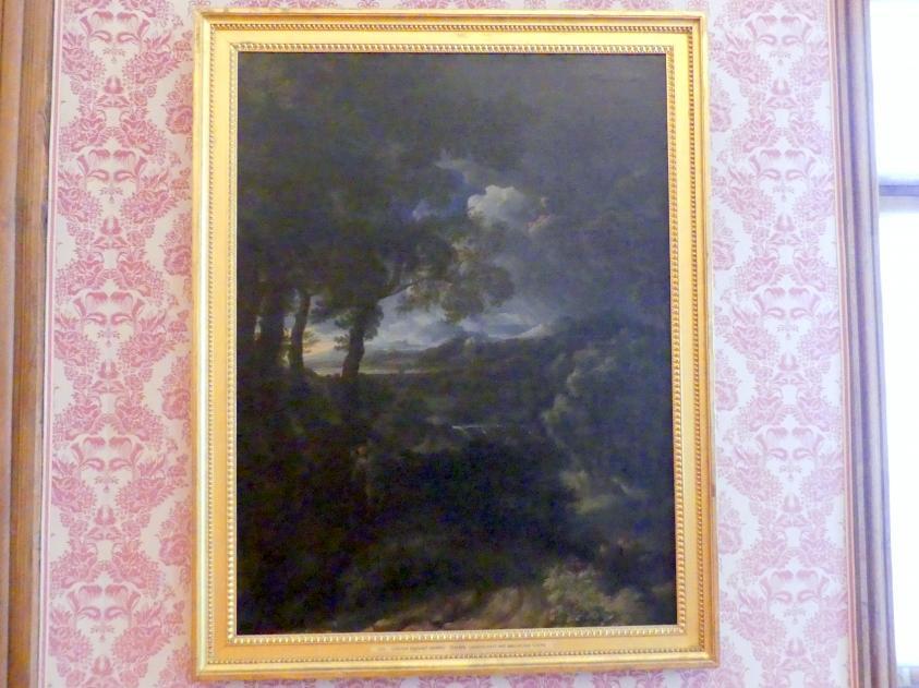 Gaspard Poussin (Kopie): Italienische Landschaft mit biblischer Szene, Undatiert