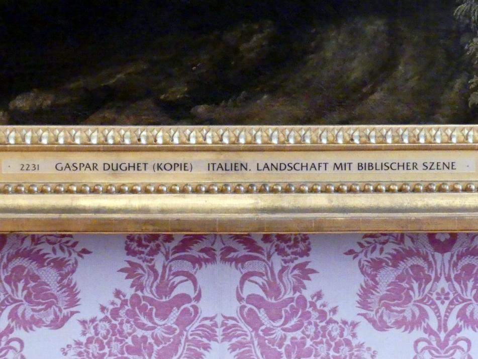 Gaspard Poussin (Kopie): Italienische Landschaft mit biblischer Szene, Undatiert, Bild 2/2