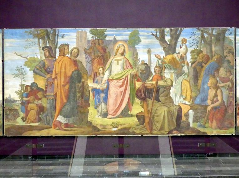 Philipp Veit: Die Einführung der Künste in Deutschland durch das Christentum. Italia, Germania., 1834 - 1836, Bild 3/5