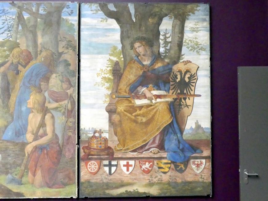 Philipp Veit: Die Einführung der Künste in Deutschland durch das Christentum. Italia, Germania., 1834 - 1836, Bild 4/5