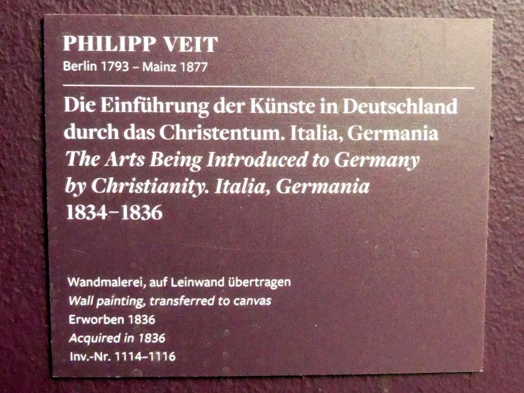Philipp Veit: Die Einführung der Künste in Deutschland durch das Christentum. Italia, Germania., 1834 - 1836, Bild 5/5