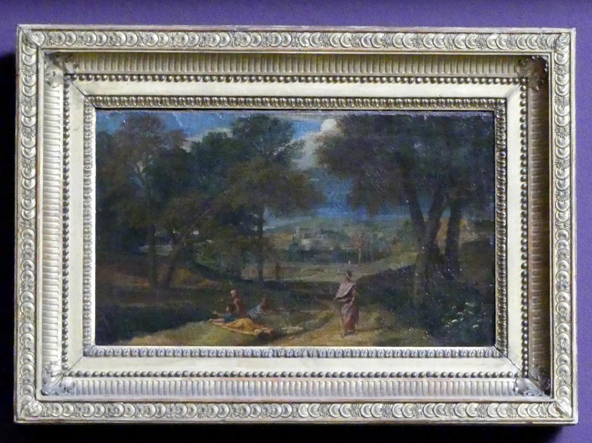 Francisque Millet (Jean-François Millet, Millet I): Südliche Landschaft mit ruhenden Figuren an einem See, um 1660 - 1679