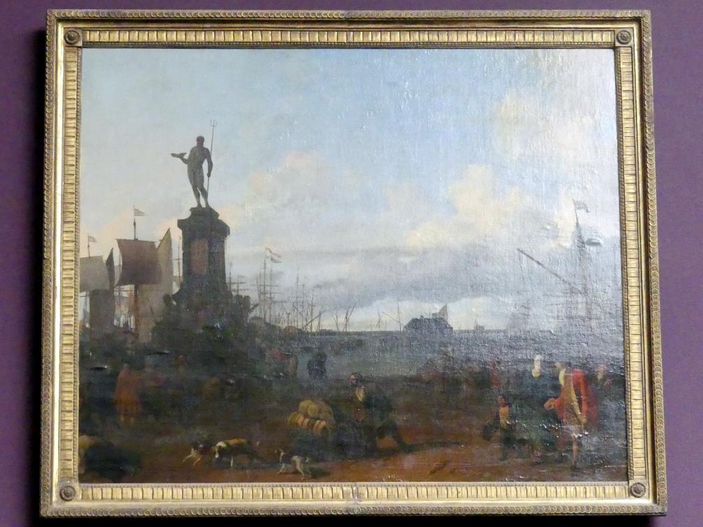 Ludolf Bakhuizen (Backhuysen): Ansicht des Amsterdamer Hafens am IJ, 1700