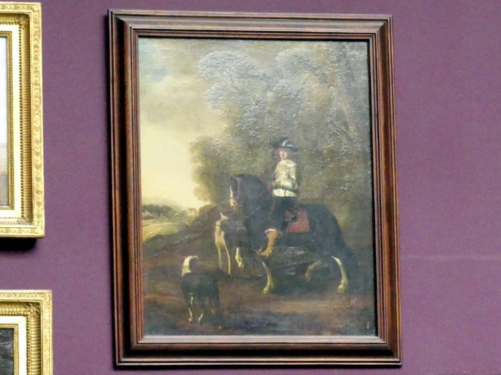 Thomas de Keyser: Bildnis eines Reiters mit zwei Hunden, um 1660 - 1670