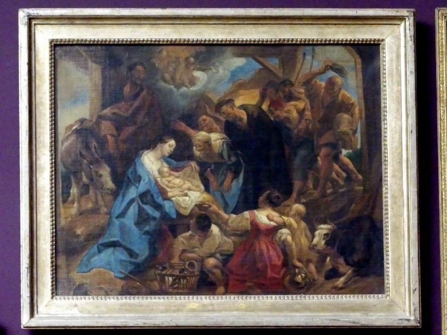 Jacob Jordaens: Hirtenanbetung, Um 1653