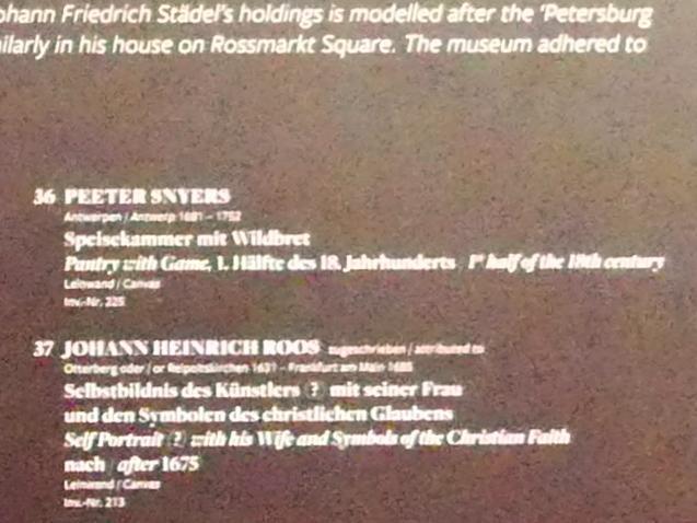 Pieter Snyers: Speisekammer mit Wildbret, 1. Hälfte 18. Jhd., Bild 2/2