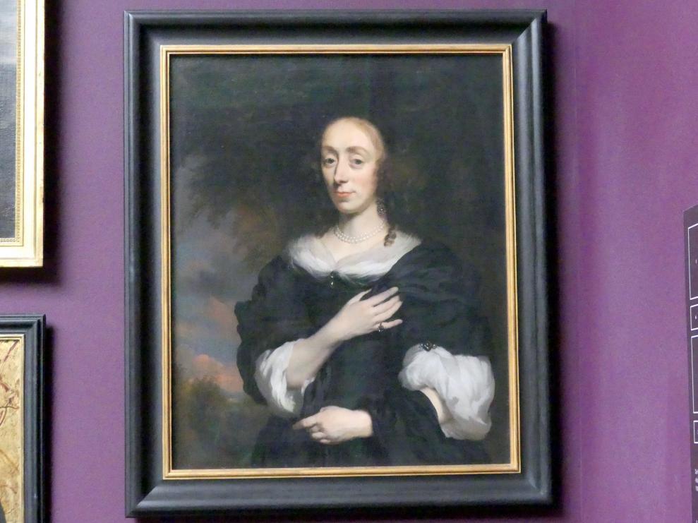 Nicolaes Maes: Bildnis einer Dame in einem schwarzen Kleid, 1668 - 1670