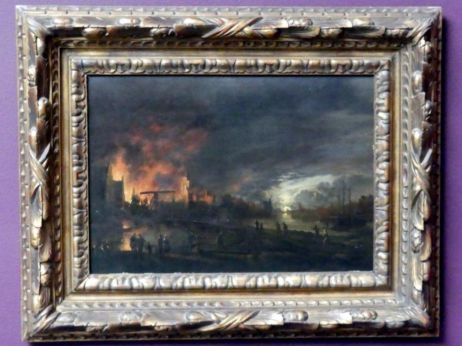 Aert van der Neer (Kopie): Nächtliche Feuersbrunst in einer holländischen Stadt, um 1800