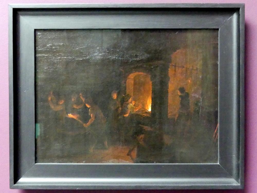 J. Reichenbach: Inneres einer Schmiede, Undatiert