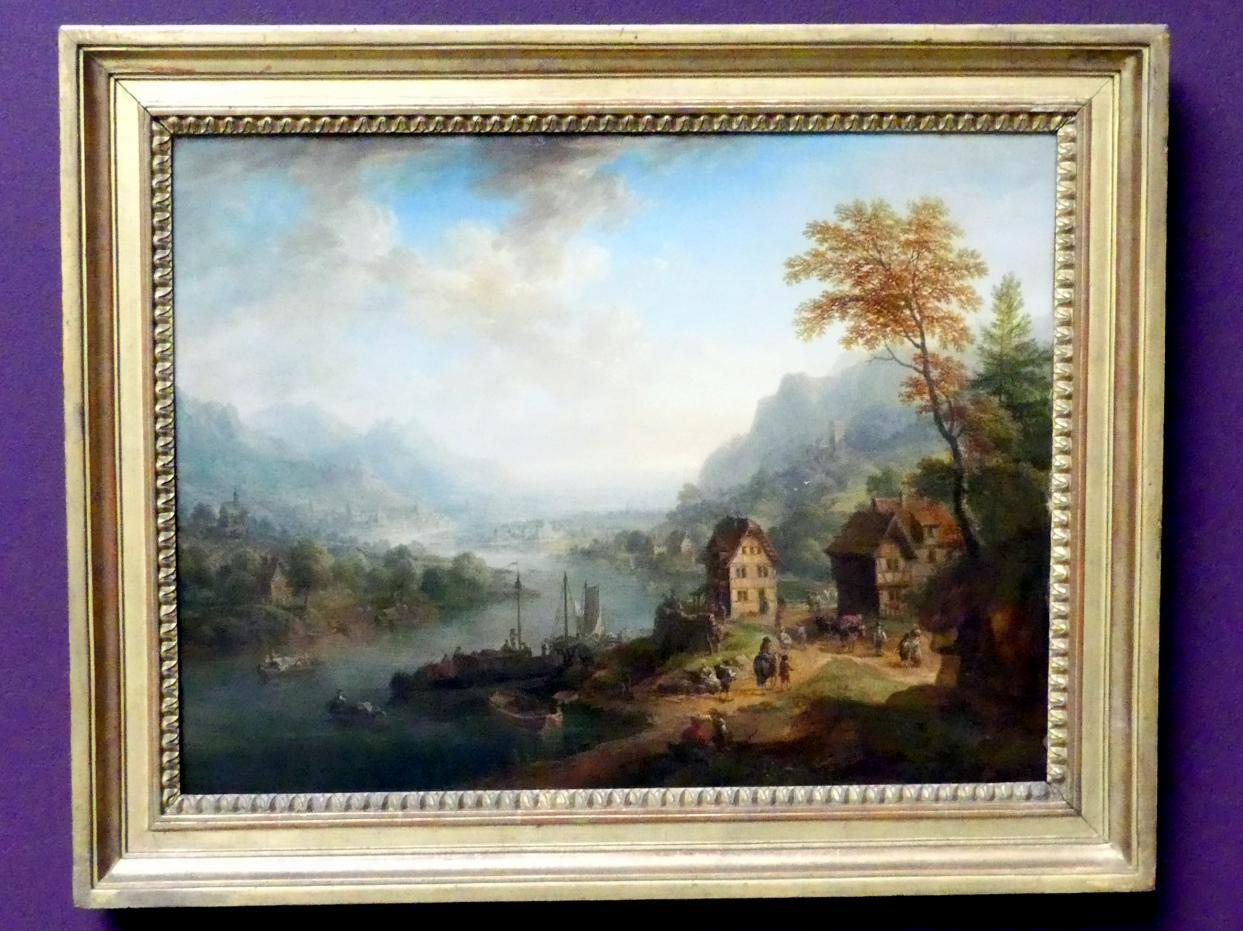 Christian Georg Schütz der Ältere: Flusslandschaft, 1765