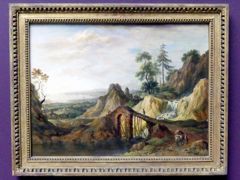 Christian Georg Schütz der Ältere: Landschaft mit Brücke, 1787