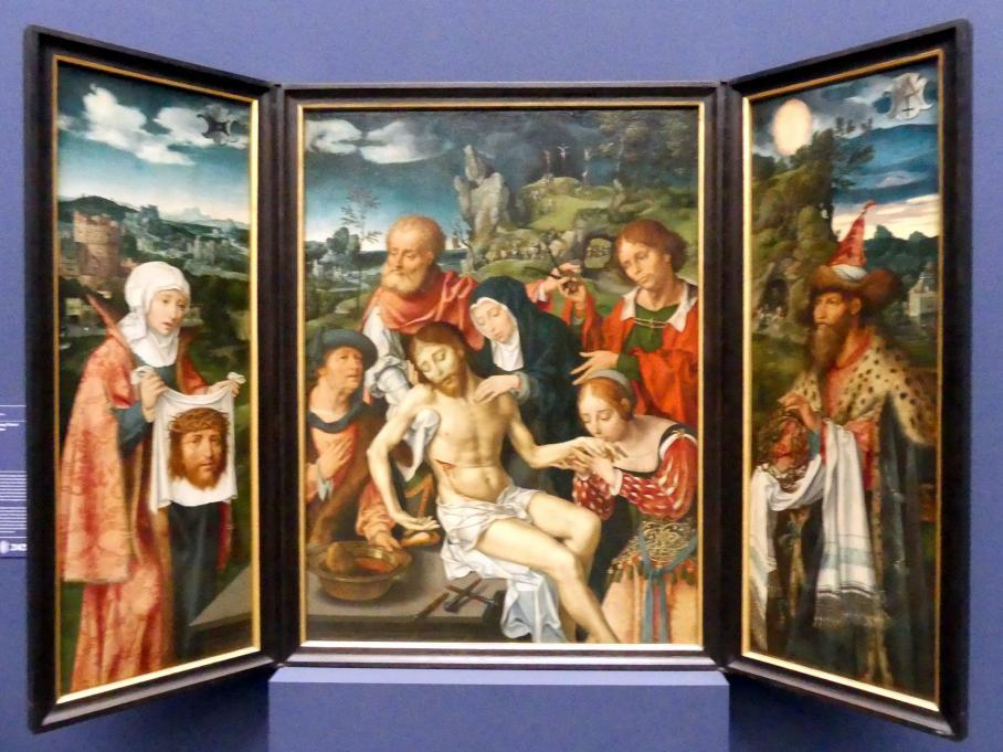 Joos van Cleve (Joos van der Beke): Triptychon mit der Beweinung Christi, 1524