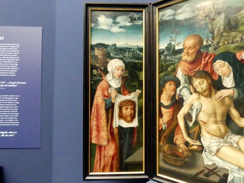 Joos van Cleve (Joos van der Beke): Triptychon mit der Beweinung Christi, 1524, Bild 2/5
