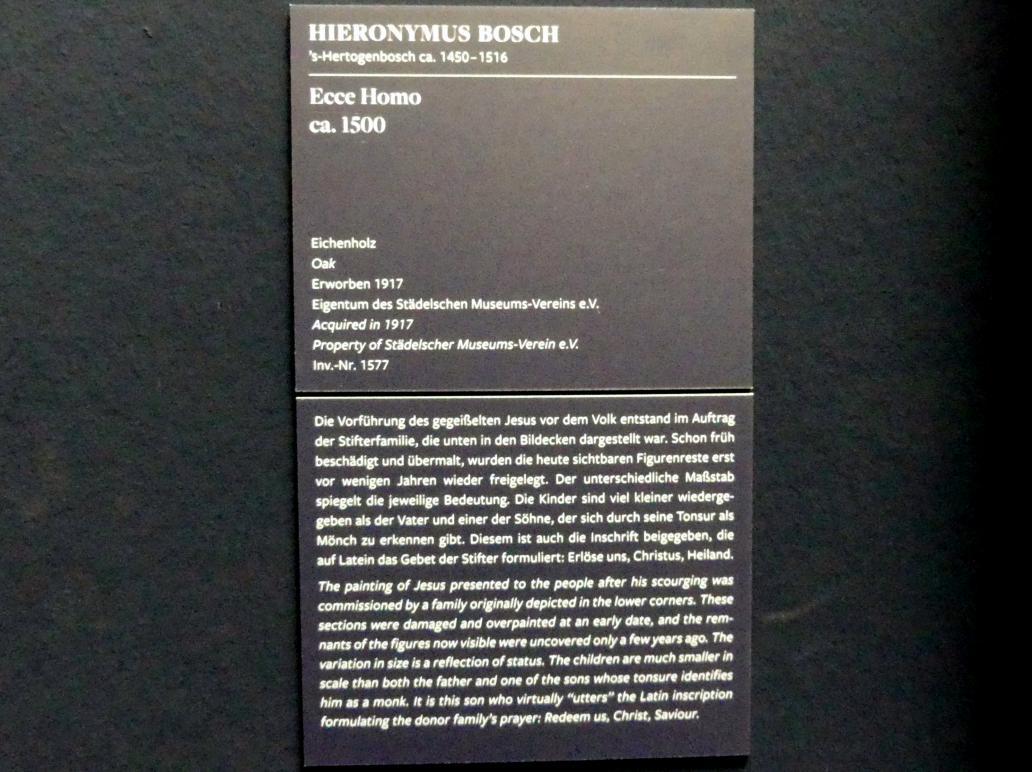 Hieronymus Bosch: Ecce Homo, um 1500, Bild 2/2