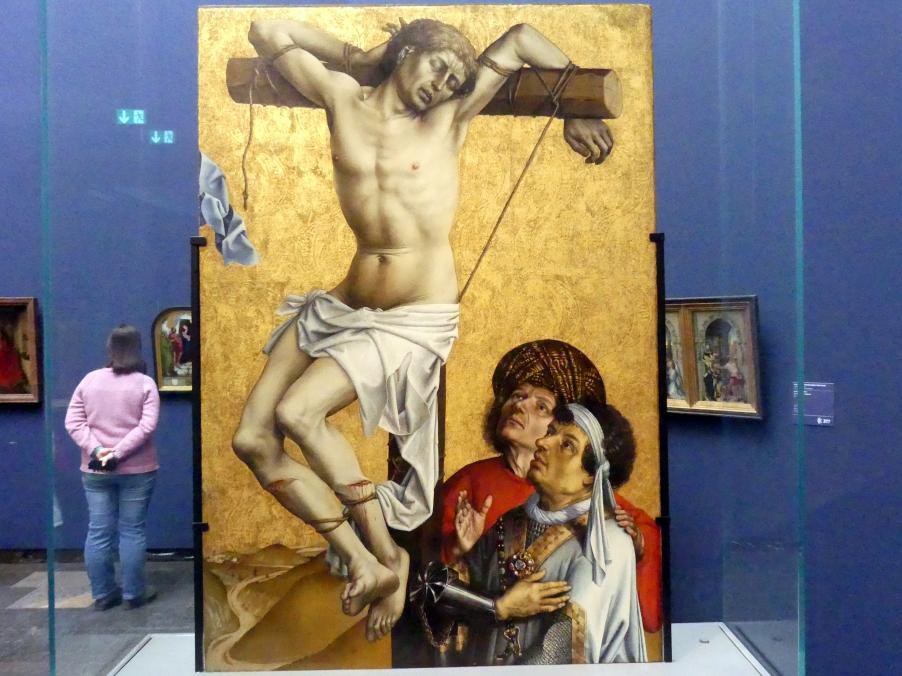 Meister von Flémalle: Der Schächer zur Linken Christi, ehem. Flügelaußenseite: Johannes der Täufer (Fragment), Um 1430