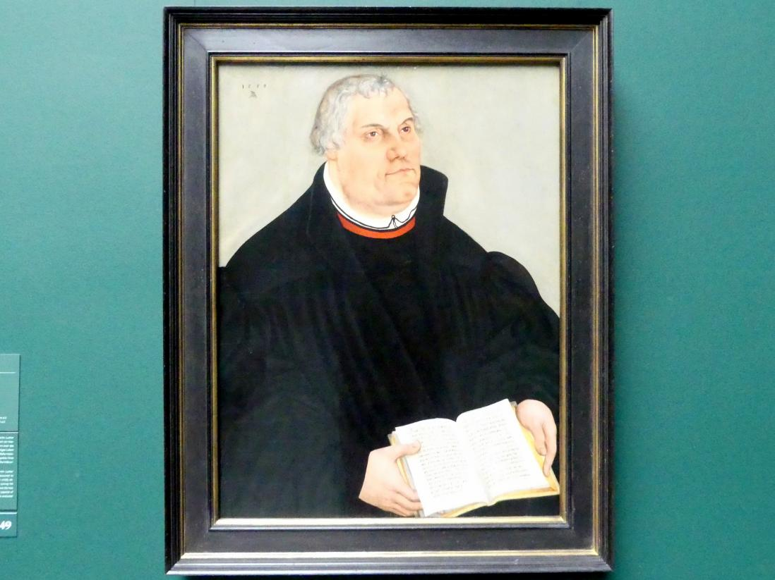 Lucas Cranach der Jüngere: Portrait von Martin Luther, 1559