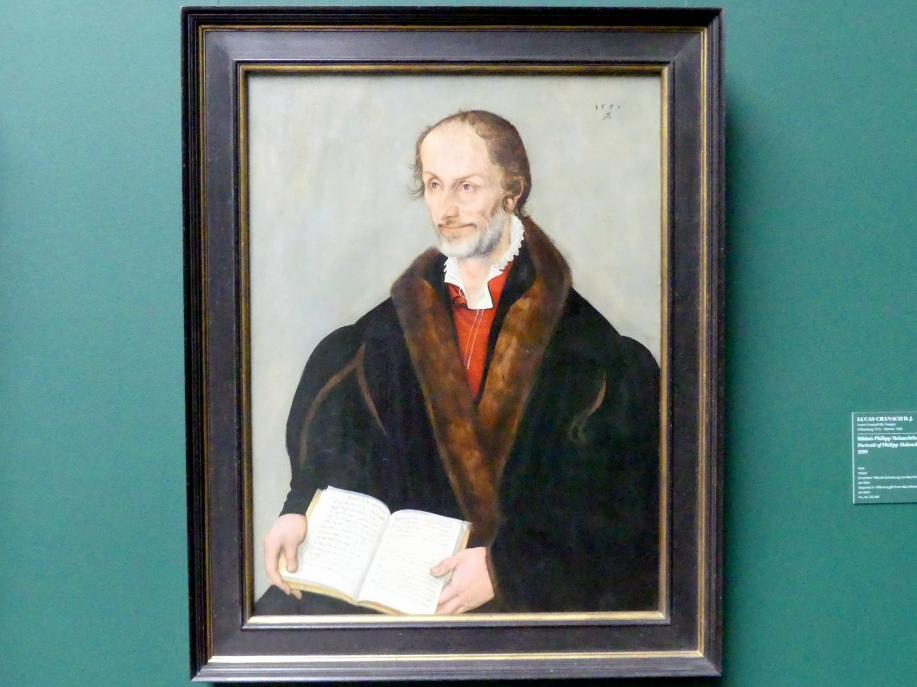 Lucas Cranach der Jüngere: Bildnis Philipp Melanchthons (1497-1560), 1559