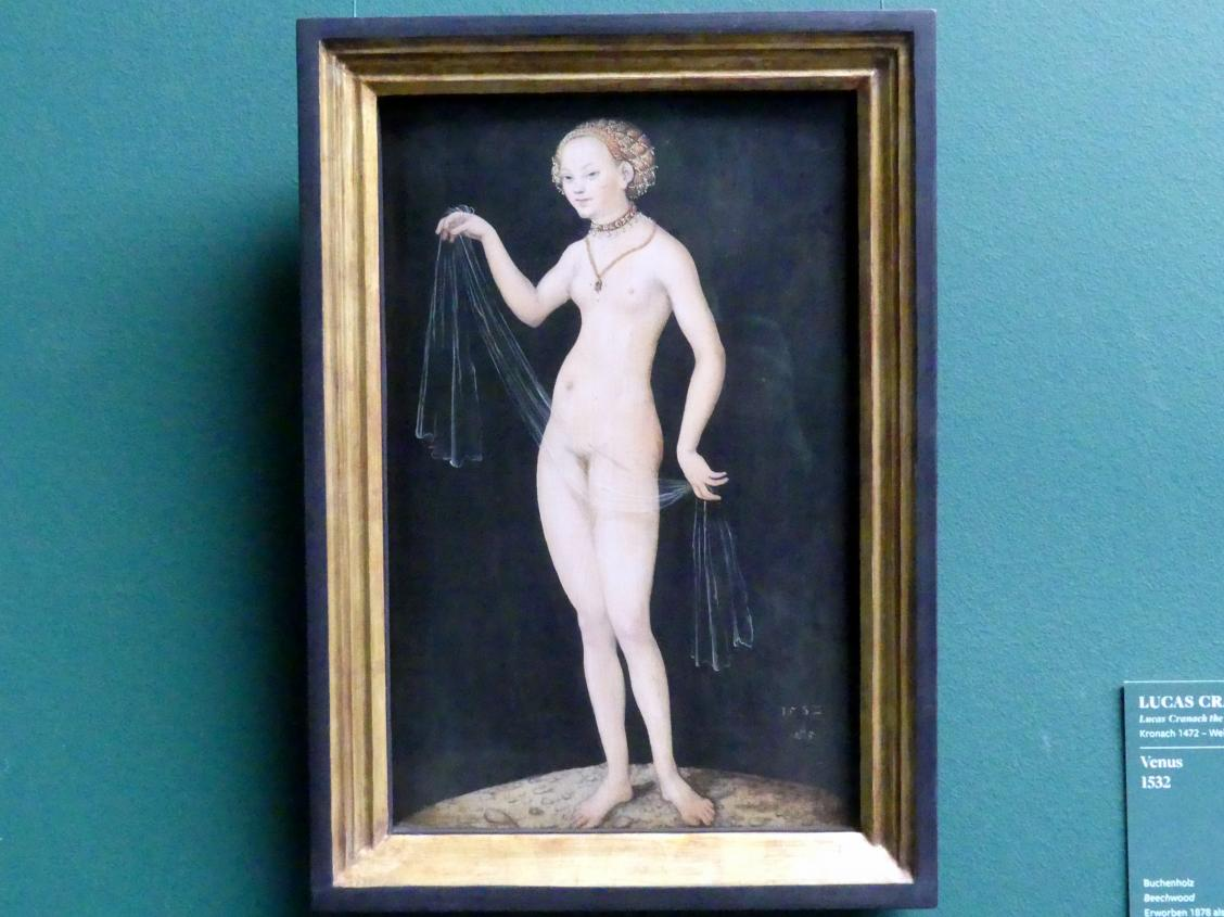 Lucas Cranach der Ältere: Venus, 1532