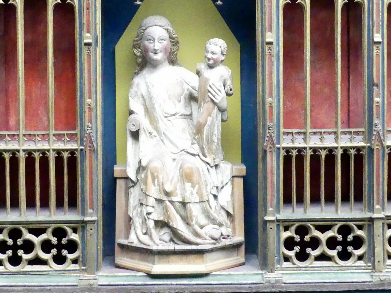 Thronende Muttergottes, Um 1325 - 1350